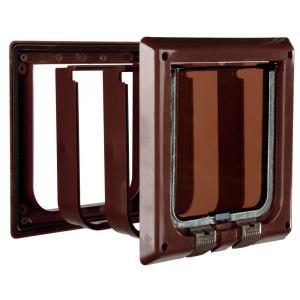 Дверца для кошек Trixie 4-Way Cat Flap, размер 21х21см., коричневый