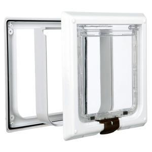 Дверца для кошек и собак Trixie FreeCat de Luxe, размер 24х24см., белый