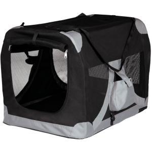 Сумка-переноска для собак и кошек Trixie Mobile Kennel, размер 50х50х70см., черный / серый