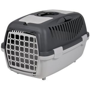 Бокс-переноска для собак и кошек Trixie Capri 2, размер 2, размер 37х34х55см., светло-серый / темно-серый