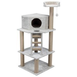 Домик-когтеточка для кошек Trixie Marlena, размер 60х60х151см., светло-серый