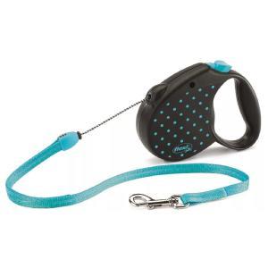 Рулетка для собак Flexi COLOR DOTS S, синий
