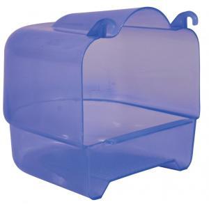 Купалка для птиц Trixie Bath House, размер 15х16х17см., прозрачно-голубой
