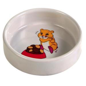 Миска для грызунов Trixie Ceramic Bowl, 90 мл, размер 8см., 20, кремовый