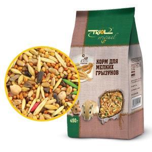 Корм для мелких грызунов Triol Original, 450 г, злаки, семена, размер 11.5х6х20.5см.