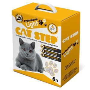 Наполнитель для кошачьих туалетов Cat Step Professional Light, 4 кг, 6 л