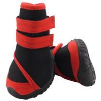 Фотография товара Ботинки для собак Triol YXS134-M, 247 г, размер 6х5.5х7см., черный с красным