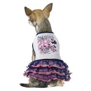 Платье для собак Triol Minnie Chic M M, размер 30см., белый с фиолетовым