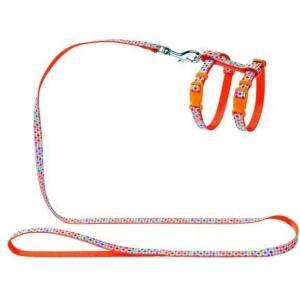 Шлейка для кошек и собак Hunter Smart Seventies , оранжевый с орнаментом