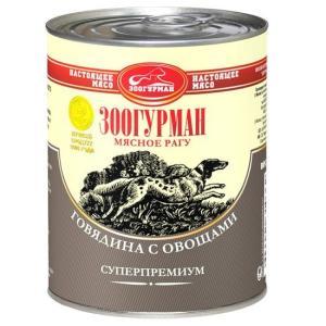 Корм для собак Зоогурман, 350 г, говядина с овощами