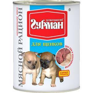 Корм для щенков Четвероногий гурман мясной рацион, 850 г