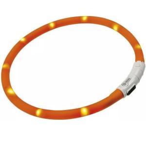 Светящийся ошейник для собак Hunter LED Silicon Dog Tube, оранжевый