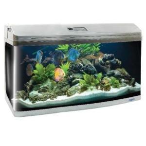 Аквариум для рыб Jebo 3100R, 208 л, размер 100х48х62см., серебро
