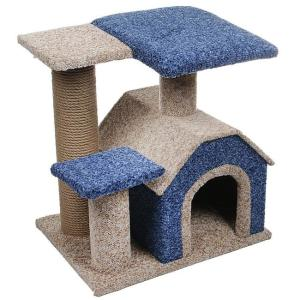 Дом-когтеточка для кошек PerseiLine Камея-3, размер 50х40х50см., цвета в ассортименте