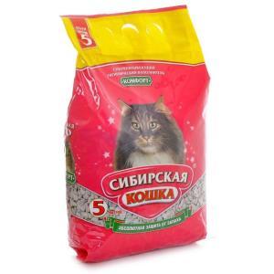 Наполнитель для кошачьего туалета Сибирская кошка Комфорт, 2.6 кг, 5 л