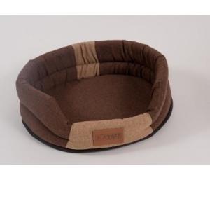 Лежак для собак Katsu Animal S, размер 65х54см., коричневый/бежевый