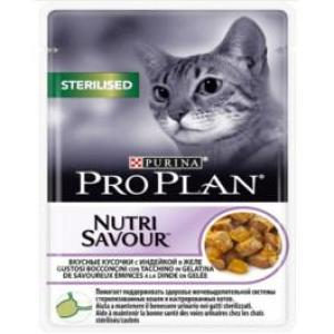 Корм для кошек Pro Plan Nutrisavour Sterilised, 85 г, индейка