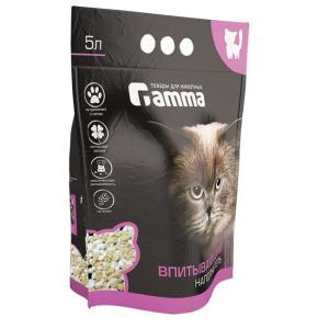 Наполнитель для кошачьего туалета Гамма, 3 кг, 5 л