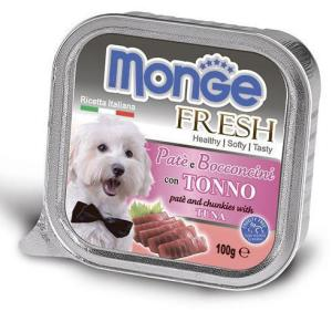 Monge Dog корм для собак Monge Fresh, 100 г, тунец