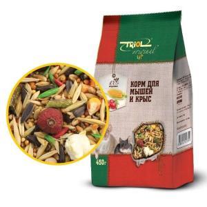Корм для грызунов Triol, 450 г, овощи, шиповник
