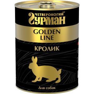 Корм для собак Четвероногий гурман Golden line, 340 г, кролик