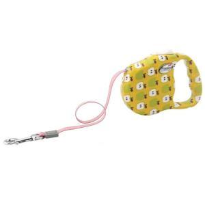 Поводок-рулетка для собак Freego Яблоко, желтый