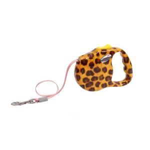 Поводок-рулетка для собак Freego Леопард, желтый