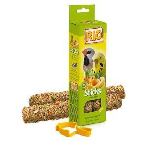 Палочки для волнистых попугайчиков и экзотов Rio Sticks, тропические фрукты
