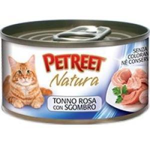 Консервы для кошек Petreet Natura, 70 г, розовый тунец с макрелью