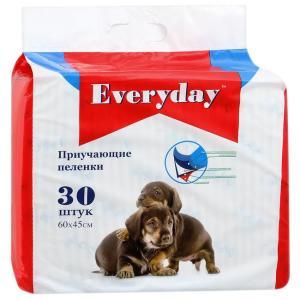 Приучающие пеленки для собак EveryDay, размер 60х45см., 30 шт.