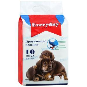 Приучающие пеленки для собак EveryDay, размер 60х45см., 10 шт.