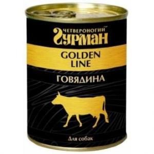 Консервы для собак Четвероногий гурман Golden Line, 340 г, говядина в желе