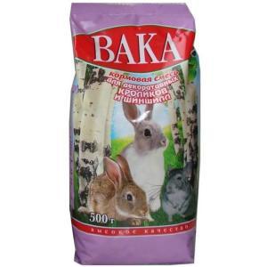 Корм для шиншилл и декоративных кроликов Вака Высокое Качество, 500 г