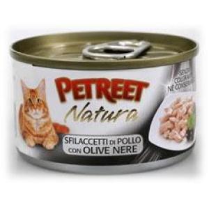 Консервы для кошек Petreet Natura, 70 г, куриная грудка с оливками