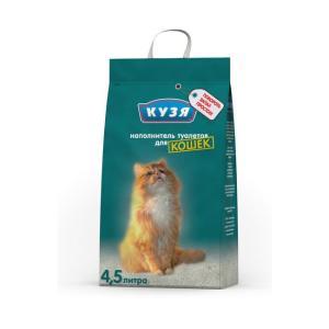 Наполнитель для кошачьего туалета Кузя, 2.5 кг, 4.5 л
