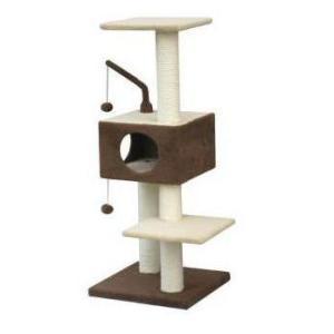 Домик-когтеточка для кошек Fauna International Revizo, размер 45х45х121см.