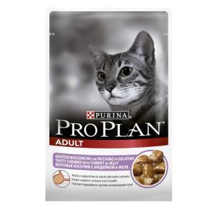 Корм для кошек Pro Plan Adult, 85 г, индейка