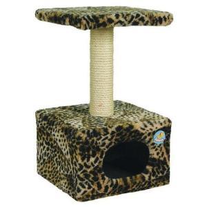 Домик-когтеточка для кошек Зооник, размер 34х34х60см.