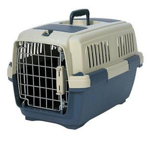 Переноска для собак и кошек Marchioro Clipper Tortuga, размер 2, размер 57х37х36см., бежевый/синий