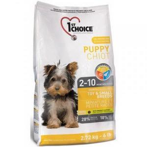 Корм для щенков 1st Choice Puppy Toy & Small Breeds, 2.72 кг, цыпленок с овощами