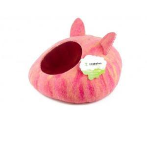 Домик для животных Zoobaloo Уютное гнездышко, размер 40х40х20см., мультиколор розовый
