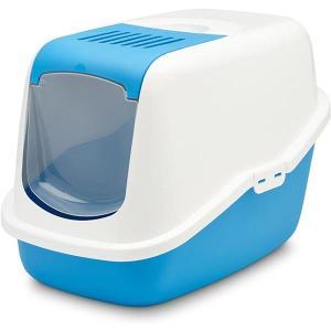 Туалет для кошек Savic Nestor, размер 56х39х38.5см., белый / синий