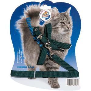 Поводок и шлейка для кошек Зооник 1314-1