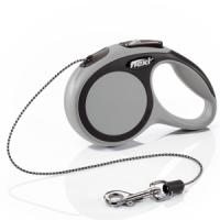 Фотография товара Поводок-рулетка для собак Flexi New Comfort XS, серый