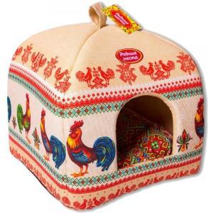 Домик для собак и кошек Родные Места Петухи, размер 39х39х48см.