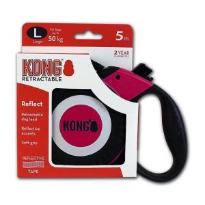 Поводок-рулетка для собак Kong REFLECT L, розовый
