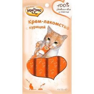 Крем-лакомство для кошек Мнямс, 15 г, курица