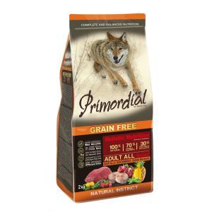 Корм для собак Primordial Adult, 2 кг, буйвол с макрелью