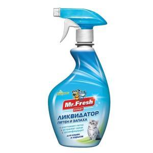 Ликвидатор пятен и запахов для кошек Mr. Fresh Expert 3 в 1 , 200 мл