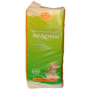 Пеленки для собак и кошек Чистый Хвост, размер 33х45см., 200 шт.